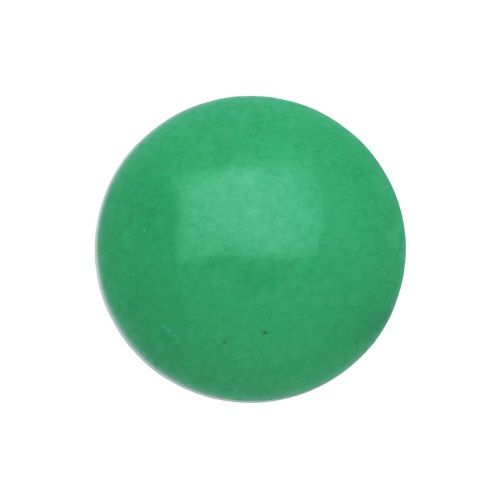 Agate / cabohcon / round / 14x14x5.5mm / green / 1pcs