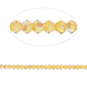 5328 Swarovski Crystal Bicone Beads 3mm Light Topaz Shimmer Pk24
