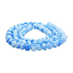 Candy™ / rondelle / 4x6mm / blue-white / 140pcs
