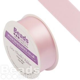 X-Soft Pink Double Satin Ribbon 19mm Sold on a 5 Metre Reel