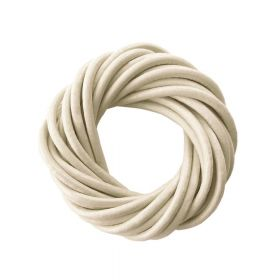 Leather cord / natural / round / 4mm / light cream / 2m
