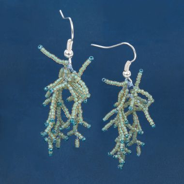 Under the Sea Coral Earrings