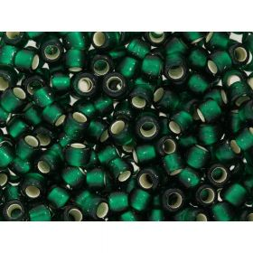 TOHO™ / Round 6/0 / Silver-Lined Frosted / Green Emerald / 10g