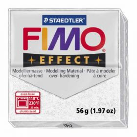 Staedtler Fimo Effect Polymer Clay Glitter White 56g (1.97oz)