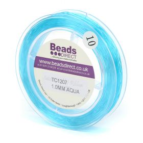 Blue Elastic Stringing Cord 1mm 26metre Reel