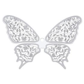 Butterfly / pendant filigree / surgical steel / 64x88mm / silver/ 1pcs