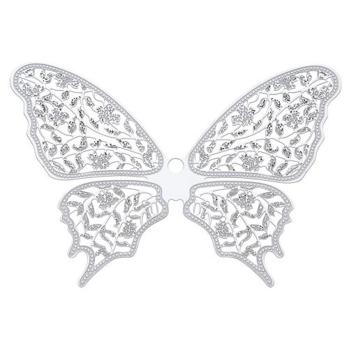 Butterfly / filigree pendant / surgical steel / 64x88mm / silver/ 1pcs