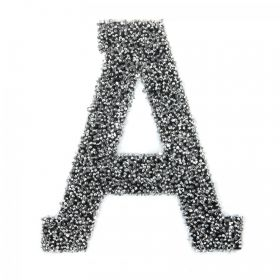 Swarovski Crystal Letter 'A' Self-Adhesive Fabric-It Black CAL Pk1