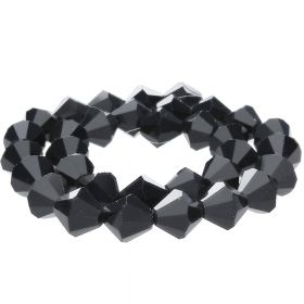 CrystaLove™ crystals / glass / bicone / 2mm / black / lustered / 198pcs
