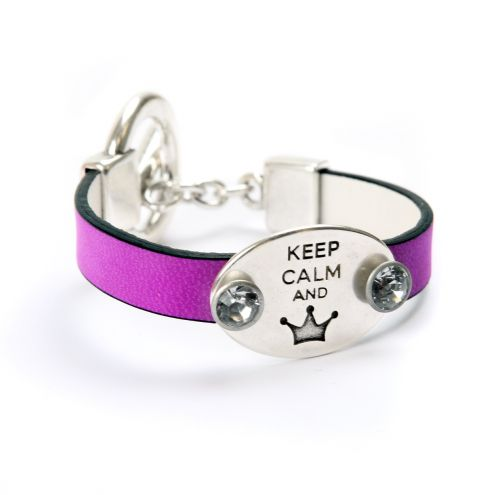 Keep Calm Neon Purple Bracelet