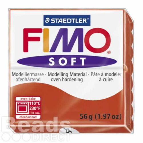 Staedtler Fimo Soft Polymer Clay Indian Red 56g (1.97oz)