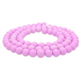 Milly™ / round / 8mm / dark pink / 100pcs