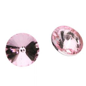 Bonny™ / crystal glass / rivoli / 14mm / Pink / 8pcs