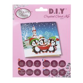 Beads Direct 'Penguin Christmas Carols' Crystal Card Kit