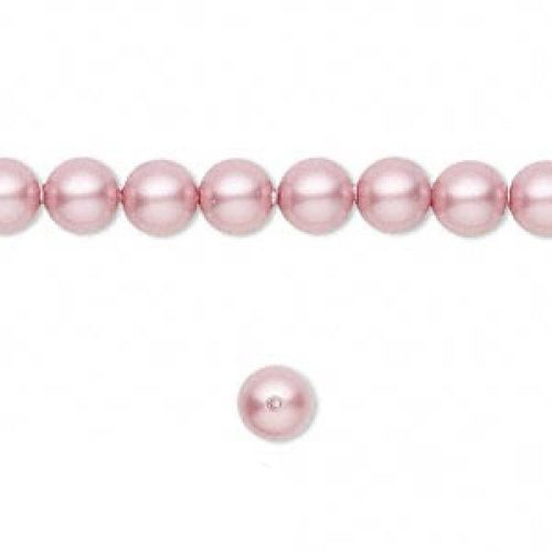 5810 Swarovski Glass Pearls 6mm Powder Rose Pk50