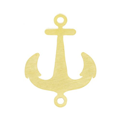Anchor / connector / surgical steel / 22x17x1.2mm / gold / 1pcs