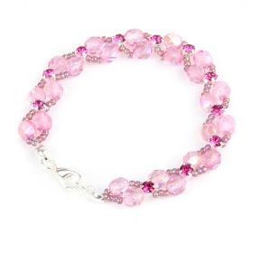 Pink Side by Side Montee Weave Bracelet Kit TAMB - Makes x2