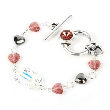 Blush Rose Bracelet made with Swarovski