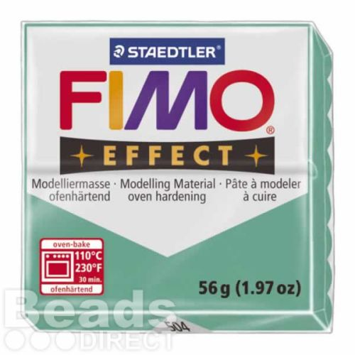 Staedtler Fimo Effect Polymer Clay Translucent Green 56g (1.97oz)