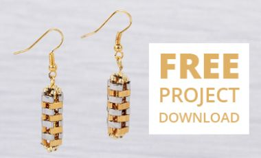 Hexagonal Prism Earrings | FREE Download