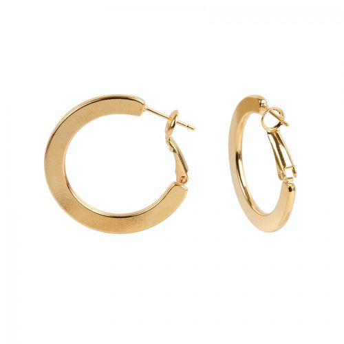 Gold Plated Hoop Earring 30x22mm 1 PAIR