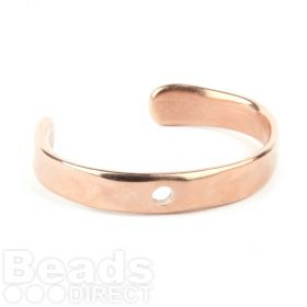 Rose Gold Plated Zamak Flat Bangle Base with Hole 50x65mm Pk1
