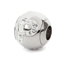 82201 Swarovski Crystal BeCharmed Letter 'P' Bead 12mm Pk1