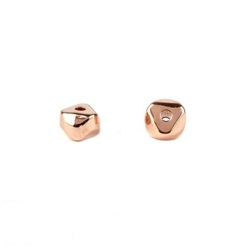 Rose Gold Plated Small Nugget Beads 4x6mm Pk10