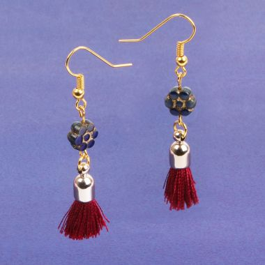 Bordeaux Blossom Earrings
