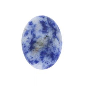 Sodalite / cabochon / oval / 12x16x4mm / 1pcs