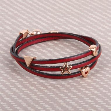 Bordeaux Leather Wrap Bracelet