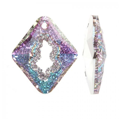 6926 Swarovski Growing Crystal Pendant Rhombus 36mm Crystal Vitrail Light B Pk1