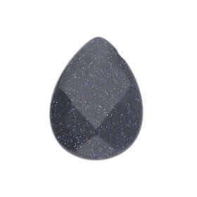 Night Cairo (Synthetic) / pendant / faceted drop / 13x18x6mm / 1pcs
