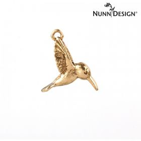 Nunn Design Antique Gold Hummingbird Charm 16x20mm Pk1