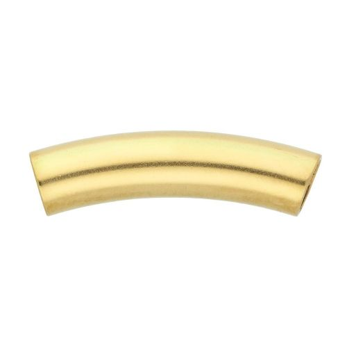 Curved tube bead / surgical steel / 30mm / hole 6mm / gold / 1pcs