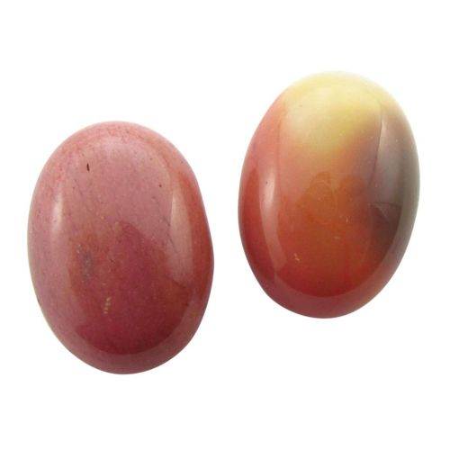 Moukaite / cabochon / oval / 18x25mm / red-pink / 1pcs