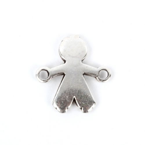 Antique Silver Plated Boy Charm Connector 9x14mm Pk1