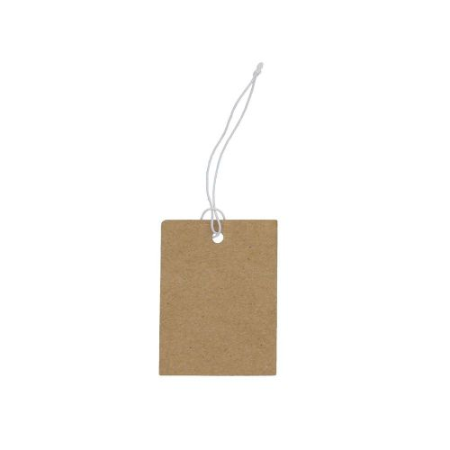 Labels for jewellery / with elastic / rectangular / 40x30mm / cardboard / 20pcs