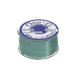 TOHO One-G ™ / nylon thread for beads / Mint Green / thickness 0.2mm / 46m