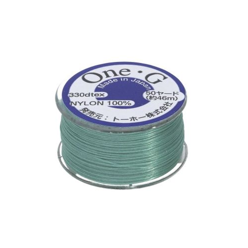 TOHO One-G ™ / nylon thread for beads / Mint Green / thickness 0.35mm / 46m