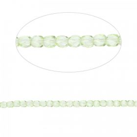 Preciosa Czech Fire Polished Beads 4mm Green Pk100