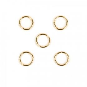Gold Plated 10mm Jump Ring 1.5mm Thick Pk5