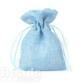 Blue Polyester Jewellery Pouch 100x140mm Pk1