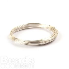 Silver Plated Copper Wire 0.8mm 6metre Coil Non Tarnish