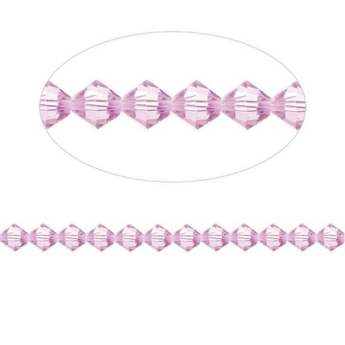 5328 Swarovski Crystal Bicones Xillion 3mm Light Amethyst Pk24