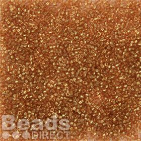 Miyuki Delica Size 11 Beads Transparent Luster Gold Rose 5g