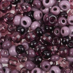 Preciosa Czech Glass Bead Mix Ro Pony Style Purple Tones 50g