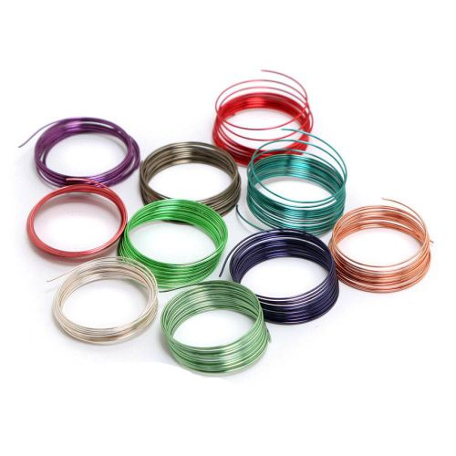 Assorted Colour Enamel Coated Copper Wire 0.5mm 10x1metre Coils