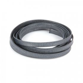 Dark Grey Flat 4mm Woven Cord 1 Metre Length