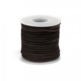 Antique Dark Brown Dyed Matte Finish 2.5mm Leather Cord 5metres